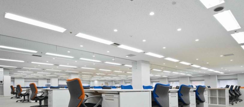 Giải pháp chiếu sáng trong khu vực văn phòng.