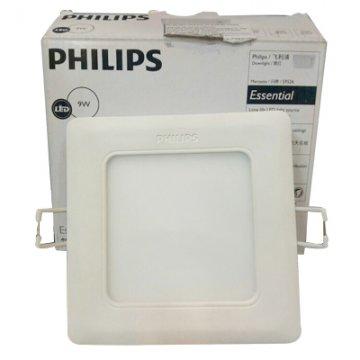 Đèn Led Philips âm trần vuông 9W Marcasite 59526